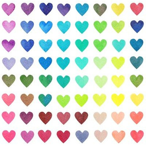 Colour Chart Hearts - smaller scale