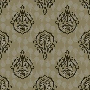 Elegant Ornamental Damask Arabesque