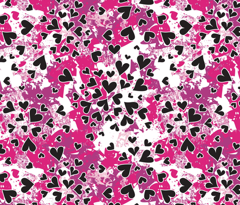 Exploding Hearts fabric by clarekettering on Spoonflower - custom fabric