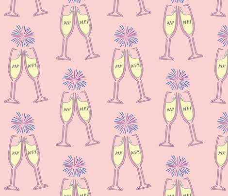 Mr. & Mrs. Champagne fabric by peytonhendersondesigns on Spoonflower - custom fabric