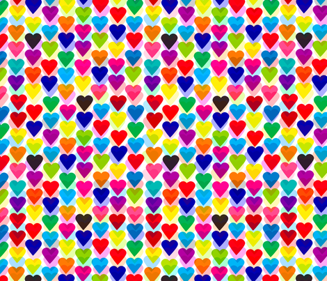 love hearts fabric by mainsail_studio on Spoonflower - custom fabric