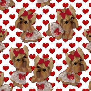6 Little Yorkie Valentines