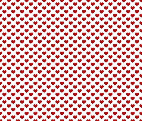 "Valentine Glam matching Hearts abt 1/2 "" fabric by sherry-savannah on Spoonflower - custom fabric"