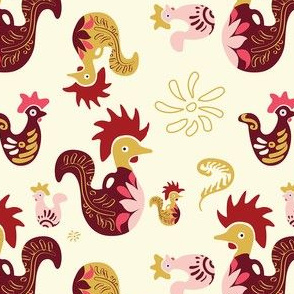 Decorative Rooster Pattern