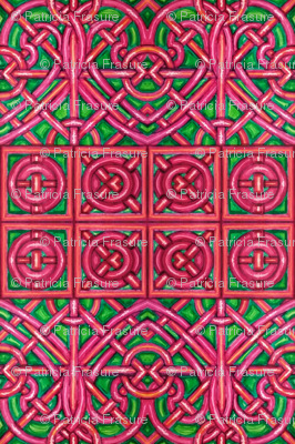 Red and Green Intertwining Hearts