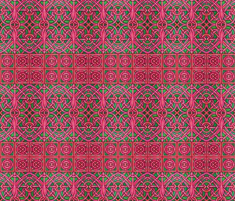 Red and Green Intertwining Hearts fabric by p__d__frasure on Spoonflower - custom fabric