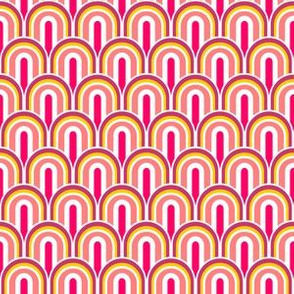70s scales pink yellow