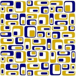 70s squares honey blue