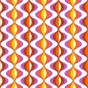 70s waves orange lavender