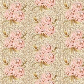 blush rose pink gold sparkly glitter