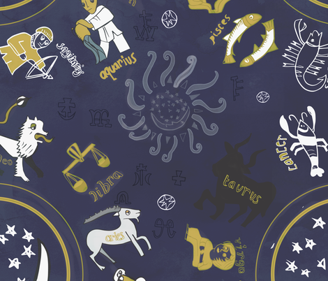 HOROSCOPE fabric by pixabo on Spoonflower - custom fabric