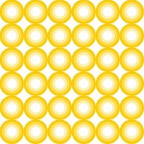 70s center circles yellow