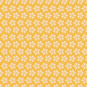Diamond Blossom / yellow mosaic geometric diamonds simple shapes minimal design