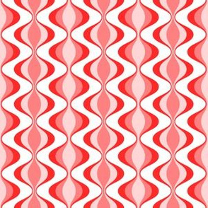 70s waves red pink