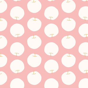Organic Apples / rose modern simple minimalistic abstract organic and fun fruit design for home decor