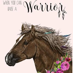 """54""""x72"""" Warrior Horse Pink"""