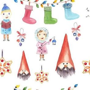 Christmas Watercolor Pattern Kids