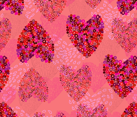 Ring of Hearts fabric by desgn_prnt on Spoonflower - custom fabric