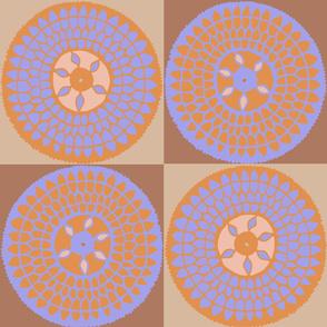 African Sunflower Quilt - Muted