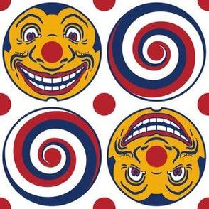 Vintage Toy Ferris Wheel Clown & Spiral