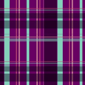 Purple and Teal Plaid V.01