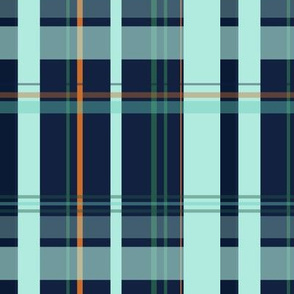Blue and Teal Plaid V.01
