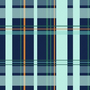 Blue and Teal Plaid V.02