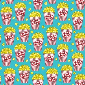 tiny popcorn-on-teal