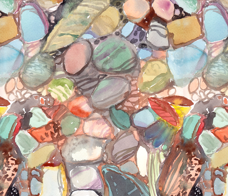 river rock 1 fabric by gengen on Spoonflower - custom fabric