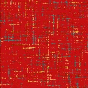 Scandinavian Love Birds Collection Red LinenTexture