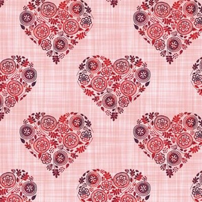 Doodle Hearts - Textured Background
