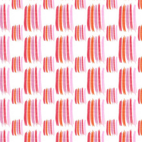 Pink and Orange Crayon Lines