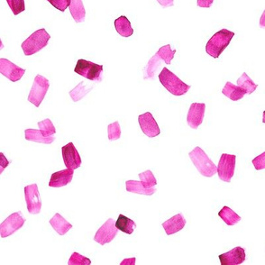Fuchsia watercolor brush strokes || abstract painted pattern