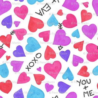 Watercolour Heart Doodle