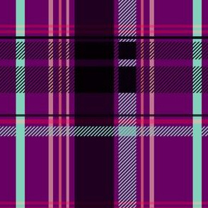 Purple and Teal Plaid V.02