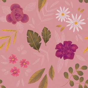 Pink Flowers - Rosé