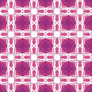 Lace Tile Squares Pink and Purple