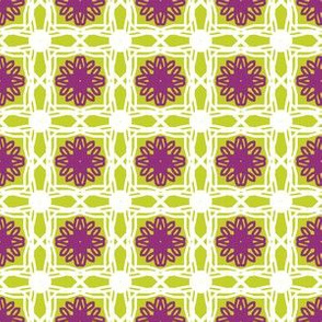 Lime and Purple lace tiles