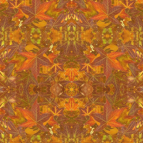 Autumn Leaves, Intricate Victorian Art Nouveau Fractal