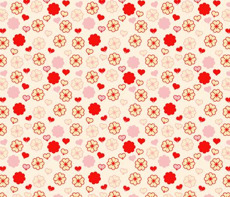 small retro Valentine fabric by juliaschumacher on Spoonflower - custom fabric