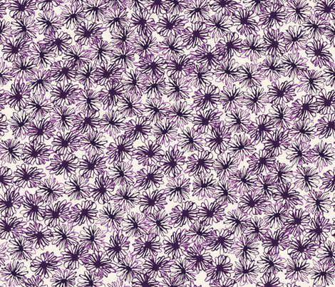 Les Petites Fleurs: Abstract Light fabric by caroline_wilkie_studio on Spoonflower - custom fabric