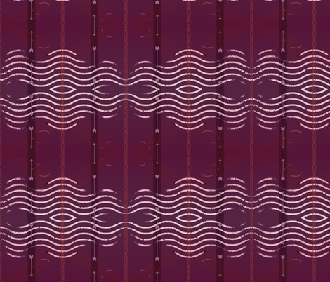 XOXO Sine Wave fabric by walkwithmagistudio on Spoonflower - custom fabric