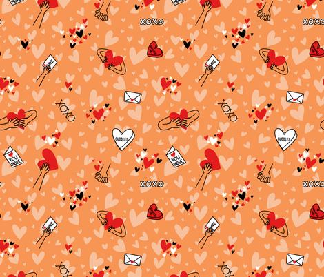 xoxo fabric by sidesignloft on Spoonflower - custom fabric