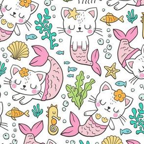 Purrmaids Cats Mermaids  Sea Doodle