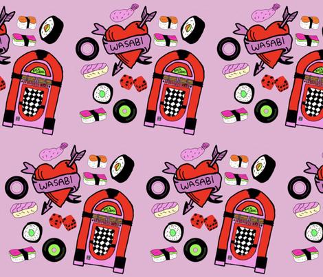 Rock n Roll, Sushi Roll fabric by weincellararts on Spoonflower - custom fabric