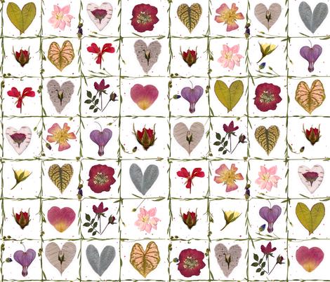 Valentine Garden fabric by mypetalpress on Spoonflower - custom fabric