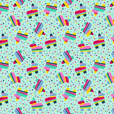 Pinata Party: Small fabric by nadiahassan on Spoonflower - custom fabric