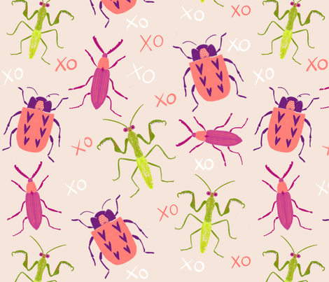 Love Bugs fabric by bright_light_design_studio on Spoonflower - custom fabric