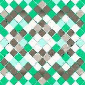 Snake Diamond Skin emerald grey