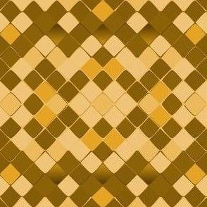 Snake Diamond Skin  brown yellow